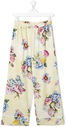 MonnaLisa TEEN floral print trousers