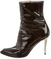 Giuseppe Zanotti Patent Pointed-Toe Ankle Boots