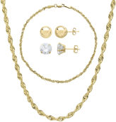 JCPenney FINE JEWELRY 10K Yellow Gold 4-pc. Jewelry Set