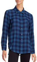 Two By Vince Camuto Buffalo Plaid Button-Up Shirt
