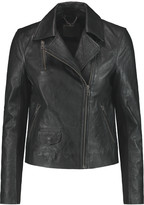 Muu Baa Muubaa Crinkled-leather biker jacket