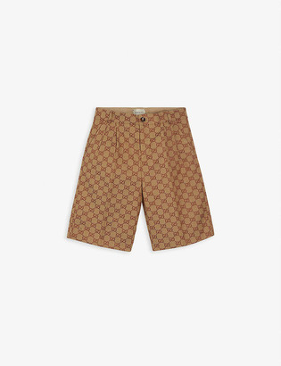Gucci GG motif formal cotton-blend shorts 6-10 years