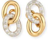 Pomellato Tango Link Drop Earrings with Diamonds in 18K Gold