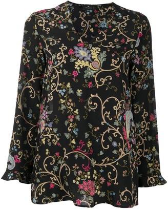 Etro Floral-Print Silk Blouse