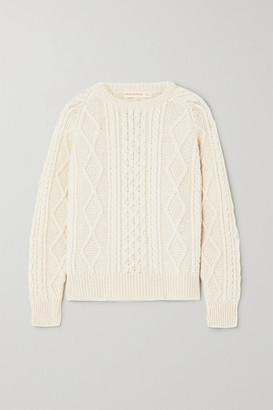&Daughter Doris Cable-knit Wool Sweater - Cream
