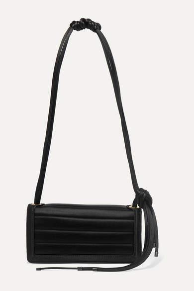 Dries Van Noten Quilted Satin Shoulder Bag - Black