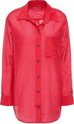 Equipment Printed Cotton And Silk-blend Shirt