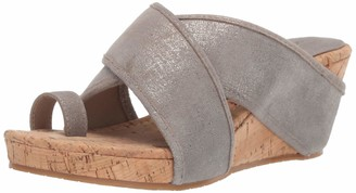 Donald J Pliner Women's GALA-60 Platform Light Pewter 9.5 B US