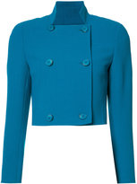 Akris cropped double-breasted jacket - women - Wool - 4