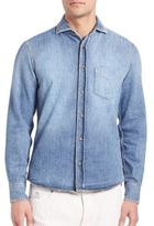 Brunello Cucinelli Washed Denim Sportshirt