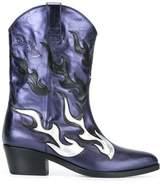 Chiara Ferragni Women's Blue Leather Boots.