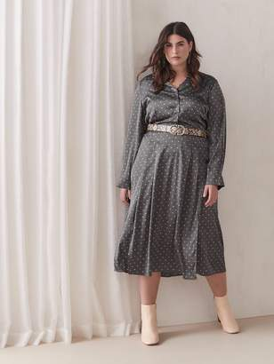 Addition Elle Crepe Fit & Flare Midi Shirt Dress