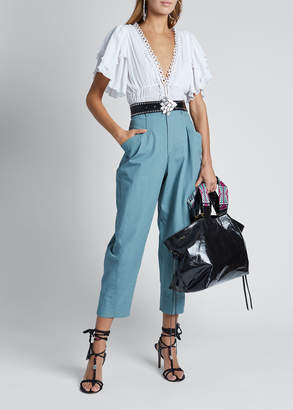 Isabel Marant Cotton High-Waist Pants
