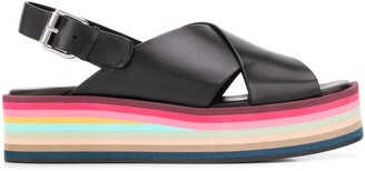 Paul Smith Crossover Strap Platform Sandals