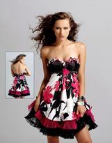 Blush Lingerie Strapless Floral Cocktail Dress 9033