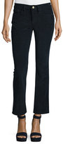 Frame Le Crop Mini Boot-Cut Corduroy Pants, Deep Blue Dive