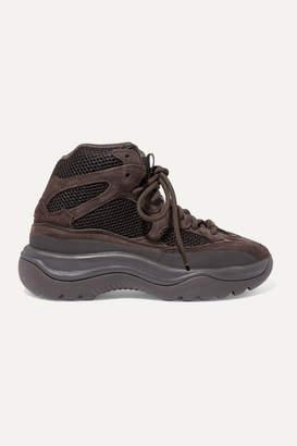 adidas + Yeezy Desert Suede And Mesh High-top Sneakers - Brown