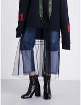 Mo&Co. Sheer lace midi skirt