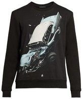 Christopher Kane Car crash-print sweatshirt