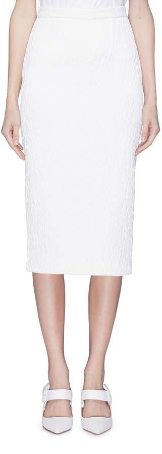 Roland Mouret 'Arreton' split hem textured pencil skirt