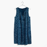 Madewell Indigo Print Shift Dress