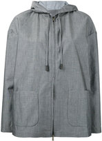 Eleventy patch pockets hooded jacket - women - Cotton/Polyamide - S