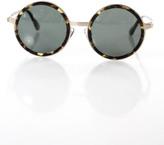 Raen Womens Brown Brindle Tortoise Frame Green Lens Fairbank Sunglasses