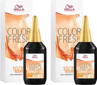Wella Professionals Color Fresh Semi-Permanent Colour Lightest Gold Central Blonde 75ml Duo Pack
