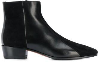Santoni Textured Ankle Boots
