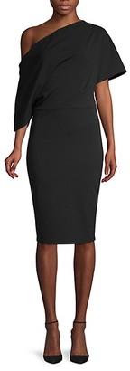 Alexia Admor Asymmetric Draped-Sleeve Sheath Dress