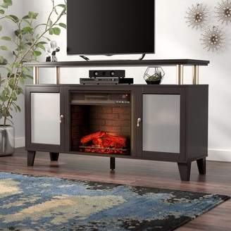 """Alcott Hill Shanks TV Stand for TVs up to 58"""" with Electric Fireplace Alcott Hill"""