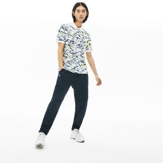 Lacoste Men's Print Cotton Pique Classic Fit Polo Shirt