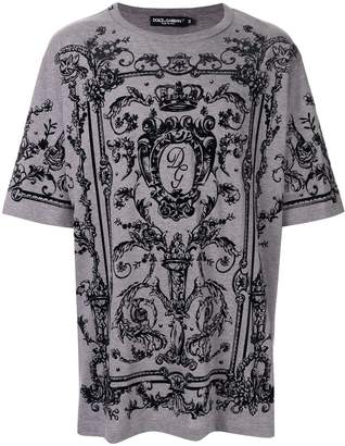 Dolce & Gabbana baroque logo print T-shirt