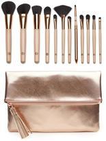 Luke Henderson 12-piece Brush Set with Rose Gold Clutch