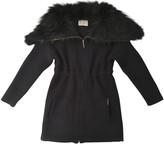 Yves Salomon Navy Fur Coat for Women