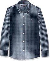 Tommy Hilfiger Boy's Ame Melange Gingham Shirt L/S Blouse