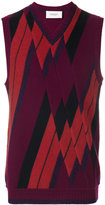 Pringle patchwork argyle sleeveless jumper