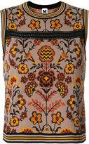 M Missoni floral knit tank top
