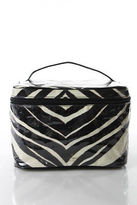 Kate Spade Black White Clear Animal Print Medium Cosmetic Handbag