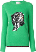 Coach dog intarsia sweater