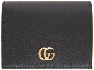 Gucci Black Small GG Marmont Card Case Wallet