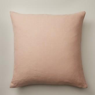 """Indigo Rose Linen Cream Pillow Cover 20"""" X 20"""""""