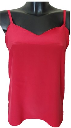 Max Mara Red Silk Top for Women Vintage
