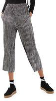 Topshop PETITE Stripe Metallic Plisse Trousers