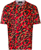 DSQUARED2 leopard print t-shirt - men - Polyester - M