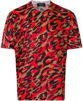 DSQUARED2 leopard print t-shirt - men - Polyester - S