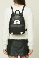 Forever 21 FOREVER 21+ Bear Faux Leather Mini Backpack