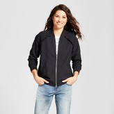 A New Day Women's Ruffle Bomber Jacket - A New Day Black