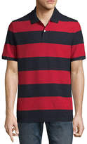 ST. JOHN'S BAY Short Sleeve Slim Fit Easy Care Quick Dry Stripe Pique Polo Shirt