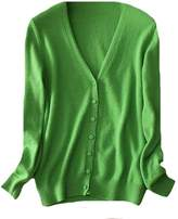 CFD Womens Classic V-Neck Button Down Cashmere Cardigan Sweater XS
